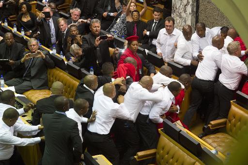 Afrique du Sud : Des coups de points s'invitent au parlement