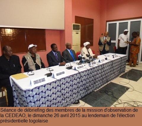 Présidentielle togolaise : La CEDEAO estime les conditions d'organisation acceptables