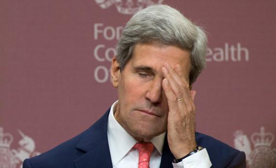 John  Kerry en observation à Genève, il s'est cassé la jambe …