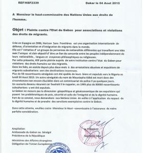 Plainte contre le Gabon