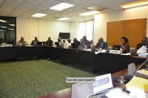 Vue partielle des participants a la reunion des    Commissaires