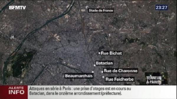 Au moins sept attaques ont touché Paris vendredi soir faisant plus de 40 morts