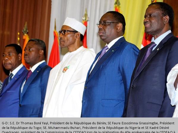 CEDEAO Réunion des Chefs d'état et de gouvernement en marge du sommet de Lomé