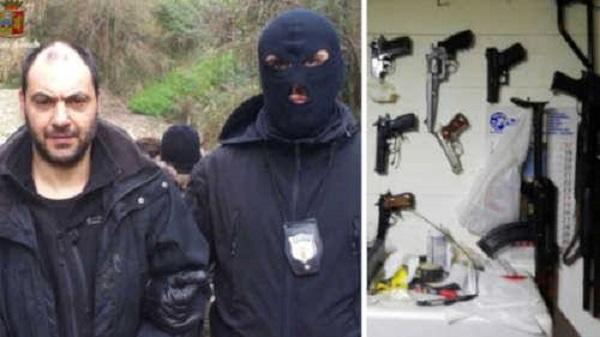 Italie  Arrestation de deux dangereux fugitifs avec leur arsenal dans un Bunker
