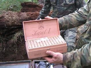 Décoyuverte 2é guerre mondiale. Cigare jpg