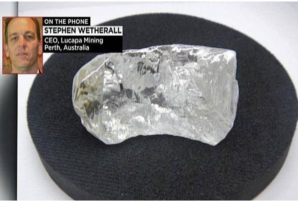 Le plus gros diamant du monde découvert en Angola, il pèse 404 carats et vaut 20 millions de dollars