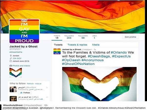 Massacre d'Orlando  Des comptes Twitter pro-EI piratés affichent la fierté d'être gay, des liens de sites pornos homosexuels
