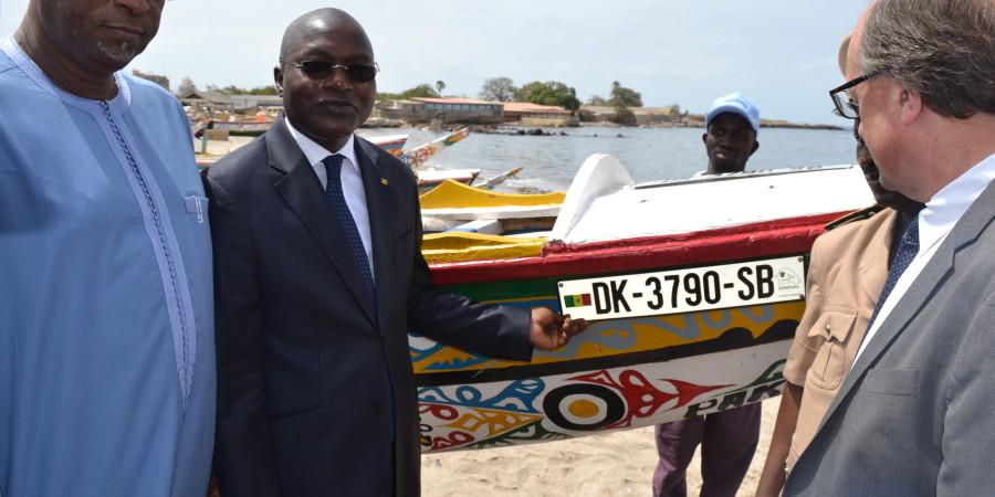 Pose des plaques sur les embarcations de pêche artisanale:  Soumbédioune à l'honneur  pour  le  lancement