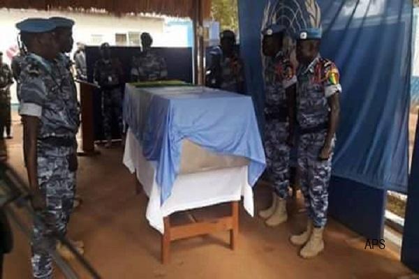 Police Un dernier hommage sera rendu ce lundi au brigadier-chef Racine Diène tombé en Centrafrique