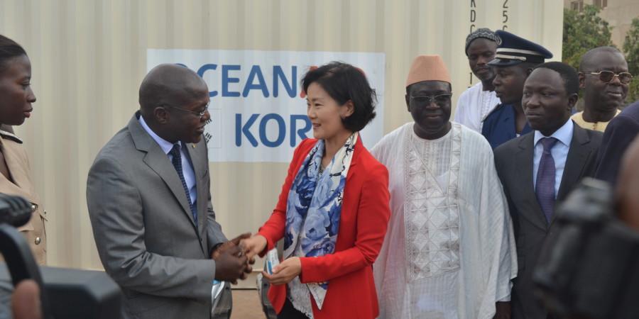 Appui au secteur de la pêche:  Un important don de matériels de la Corée réceptionné