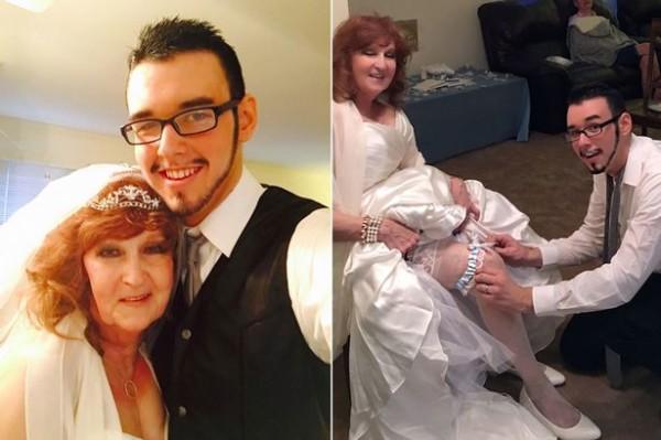 L'amour n'a pas d'âge Gary 18 ans, et sa femme, Almeda 71 ans,  dans un bonheur parfait malgré la différence d'âge