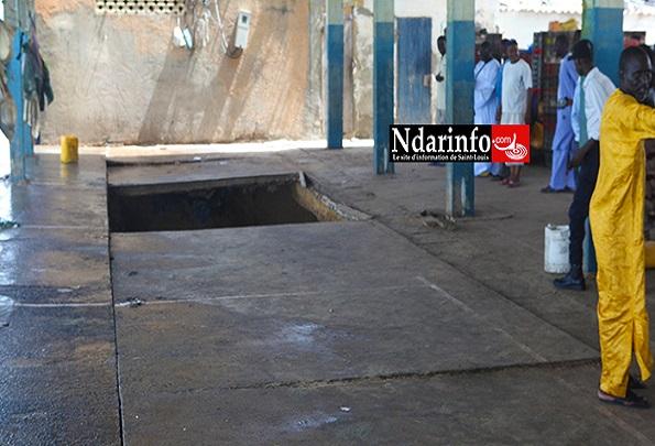 Quai de pêche de Guet Ndar La dalle s'effondre devant le ministre Oumar Guèye