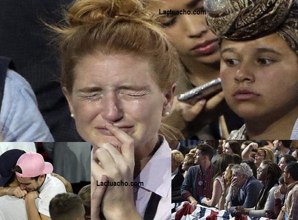 Nuit électorale dans Le Camp Hillary Clinton  De l'euphorie à l'amertume d'une défaite