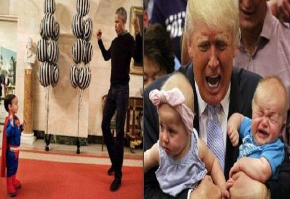 Des images parlantes qui font la différence entre Obama et Trump