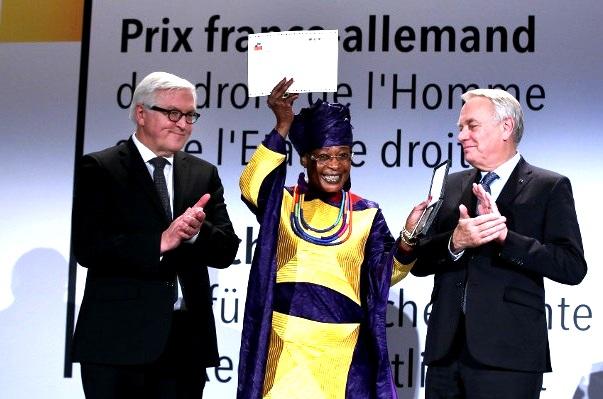 Jacqueline Moudeïna, avocate des victimes de Habré, reçoit le Prix franco-allemand des droits de l'Homme