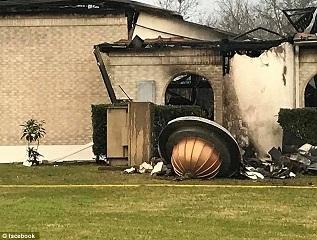 Texas Mosquée détruite