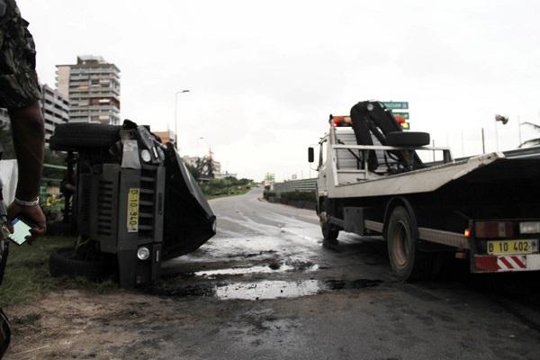 Côte d'Ivoire, un accident de la circulation fait cinq blessés parmi les militaires de la sécurité présidentielle