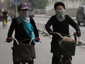 Alerte bleue des autorités météorologiques de Pékin et nationaless ur la pollution atmosphérique (EPA)