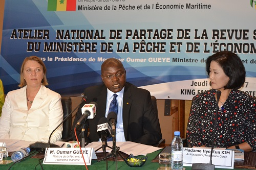 Omar Gueye, Ministre de la Pêche :  « La pêche maritime occupe la première place des exportations en 2016 avec 204,43 milliards de F CFA »