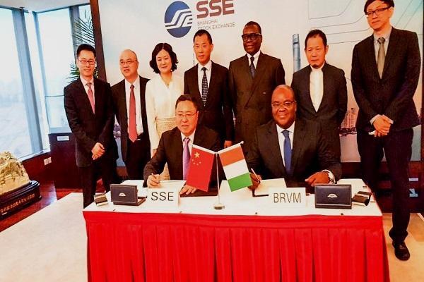 Signature d'un MoU entre la BRVM et la Bourse de Shanghai : objectif encourager l'investissement chinois en Afrique