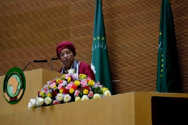 Union africaine : Mme Ellen Johnson Sirleaf, présidente du Liberia, nommée membre de son groupe des sages
