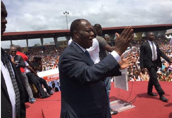 Côte d'Ivoire, le RDR du président Alassane Ouattara en congres sans Guillaume Soro