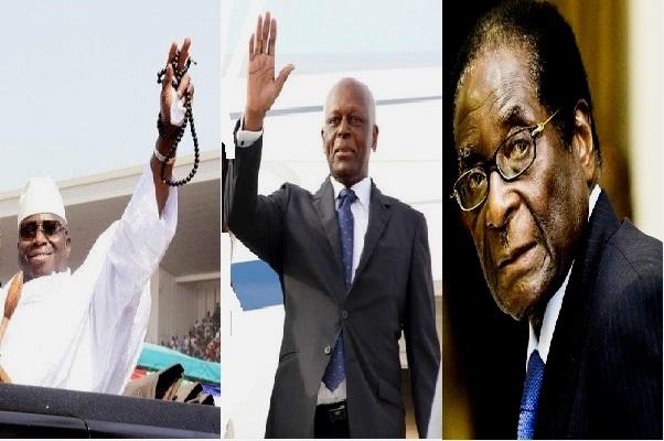 Jammeh, Dos Santos,  Mugabe : quand 2017 met fin à des décennies de règne sans partage