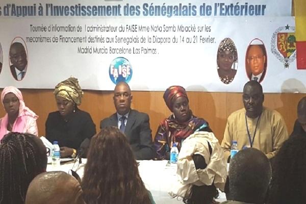 Tournée en Espagne : Madame Nata Samb Mbacké, l'Administratrice du FAISE rencontre et sensibilise les Sénégalais de la Diapora