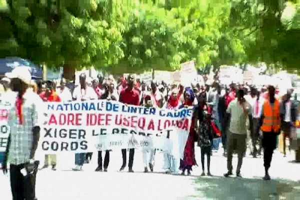 Education : Après la marche du ''G6'' à Saint-Louis, les enseignants de l'inter-cadre ont battu le macadam ce samedi à Louga