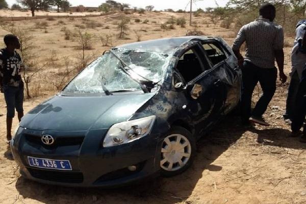 Louga : un grave accident de la route fait un mort et un blessé grave