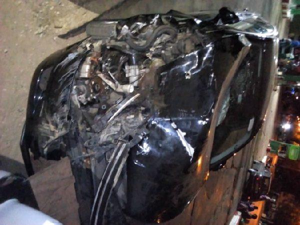 Accident à Kaffrine : le véhicule nouvellement acquis de Abdoulaye Wilane complètement abimé