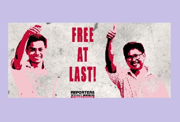 Birmanie : Les journalistes birmans de l'agence Reuters, Wa Lone et Kyaw Soe Oo enfin libres !
