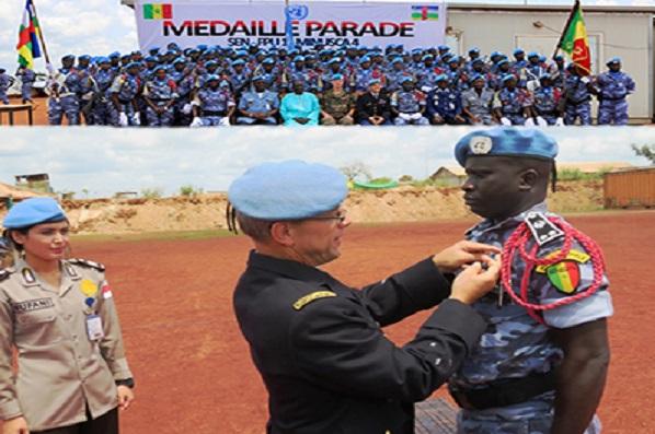 Hommage à nos forces de Police : remise de médaille à 139 éléments du contingent sénégalais de la MINUSCA
