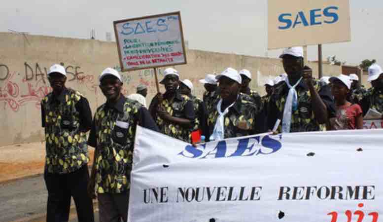 Grève des enseignants : L'UNSAS se solidarise