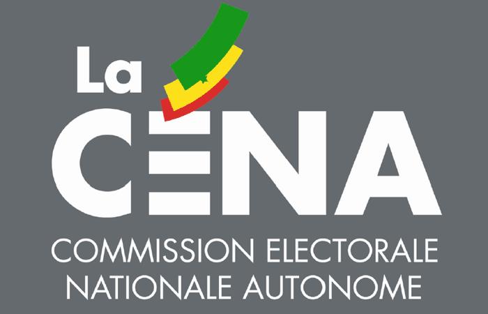 Listes électorales, le communiqué de la CENA
