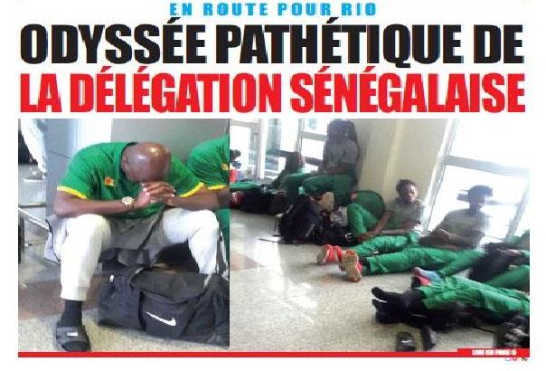 J.O 2016 de Rio, ça ne « rit pas haut » pour la délégation sénégalaise qui a galéré plus de deux jours pour arriver