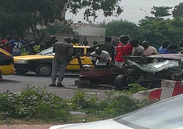 Violent Choc à hauteur de l'école Mariama Niass Quatre blessés graves évacués à Hoggy
