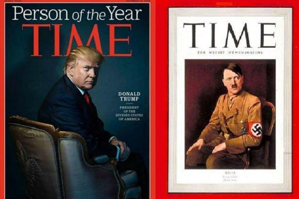 Pour « Le Meilleur ou le Pire », Donald Trump nommé «homme de l'année» par Time Magazine, après Hitler, Staline et d'autres