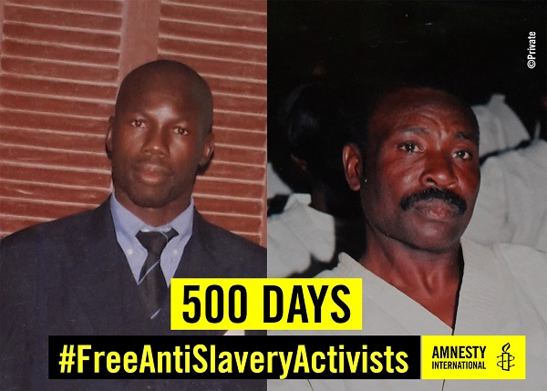 Mauritanie : une solidarité exprimée à Moussa Bilal Biram et Abdallahi Matallah Saleck « séquestrés » à Birmoghrein