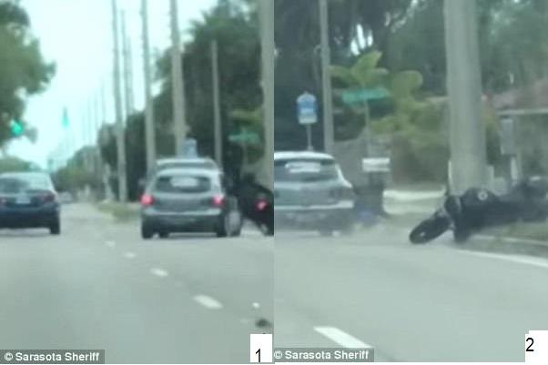 Floride :  un automobiliste recherché pour avoir presque écrasé un motocycliste après une vive dispute