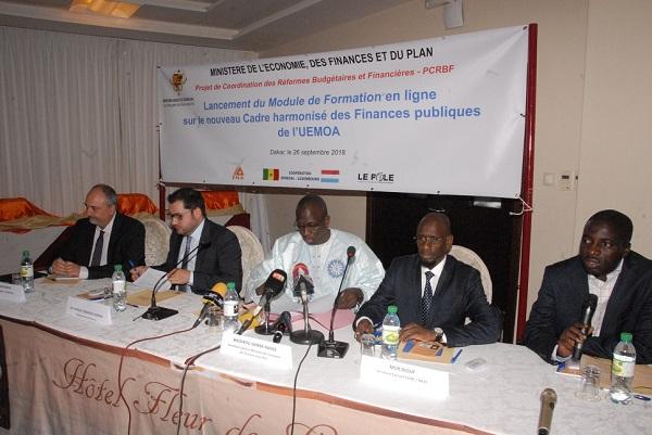 Economie : lancement à Dakar du module de formation en ligne sur le cadre harmonisé des finances publiques, recommandé par l'UEMOA