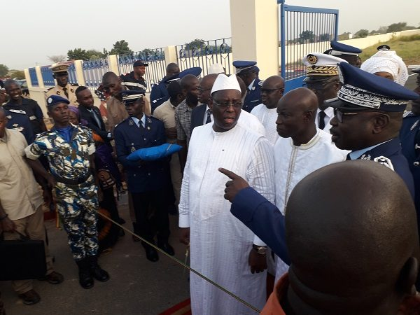 Fin de visite à Touba : Macky Sall a inauguré hier une caserne de gendarmerie multifonctionnelle