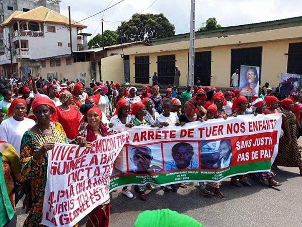 Guinée : Des femmes protestent contre les violences enregistrées depuis 2011