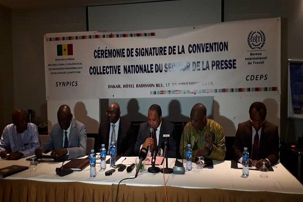 Sénégal-Médias : signature hier de la nouvelle convention collective nationale entre le Synpics et le Cdeps
