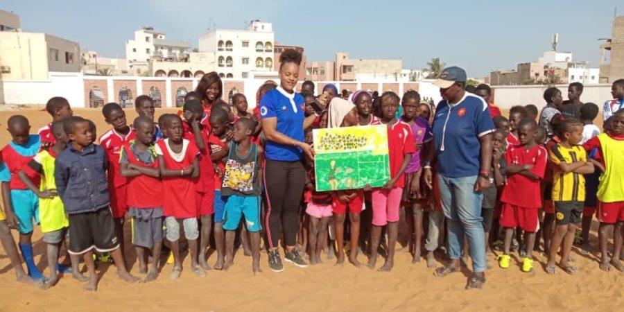Rugby : Safi Ndiaye, une  Sénégalaise joueuse internationale française souvent couronnée en visite au pays natal
