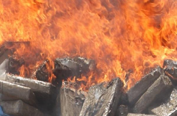 Drogue : incinération de plus d'une tonne de cocaïne saisie au port de Dakar