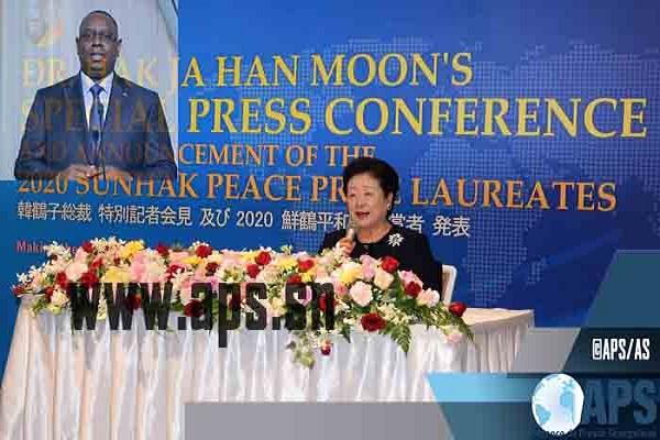 Japon : Le président  Macky Sall remporte à Nagoya, au Japon, le Prix Sunhak 2020 pour la paix