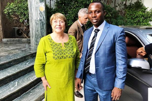 Visite de Mme Michelle Bachelet Haute Commissaire des Nations Unie : une opportunité saisie par ADHA pour aborder les sujets d'actualité violence, chômage, migration…