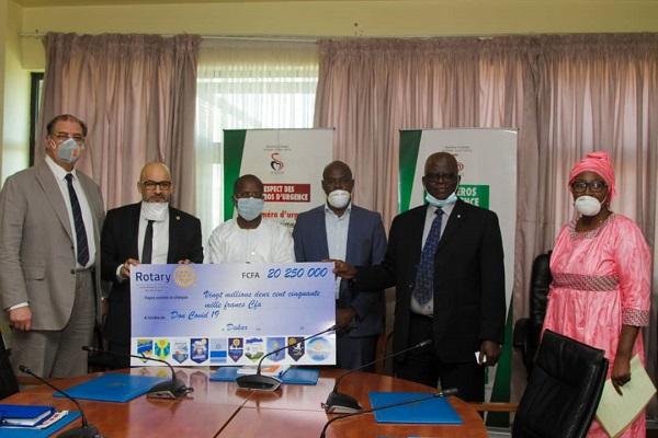 Elan de solidarité contre le COVID-19 : le Rotary Club du Sénégal décaisse de plus de 20 millions F Cfa