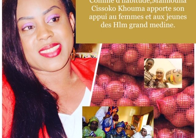 Appui pour la Tabaski : Maïmouna Cissokho au chevet des populations de HLM Grand-Médine